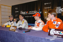 Press conference: Heikki Kovalainen, Jean Alesi, Sébastien Loeb and Marcus Gronholm