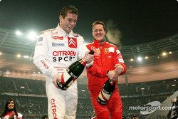 Champagne for Sébastien Loeb and Michael Schumacher