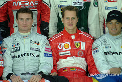 David Coulthard and Michael Schumacher