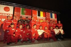 Nissan Dessoude team presentation: family picture with the Nissan Dessoude drivers and co-drivers