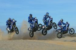 KTM team testing: Gauloises KTM riders Cyril Despres, Alfie Cox, Fabrizio Meoni and Jean Brucy