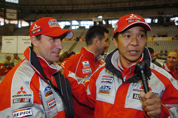 Stéphane Peterhansel and Hiroshi Masuoka