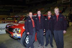 Colin McRae, Ari Vatanen and Giniel De Villiers