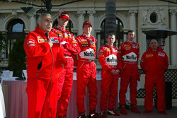 Marlboro Peugeot Total press conference: Corrado Provera, Marcus Gronholm, Timo Rautiainen, Markko Martin and Michael Park