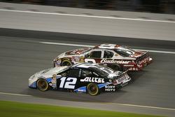 Ryan Newman and Dale Earnhardt Jr. battle