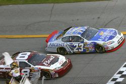 Mike Skinner and Dale Earnhardt Jr. take the white flag