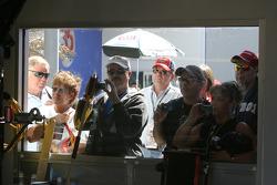 Fans watch garage action