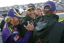 Buddy Rice and Max Papis share a laugh