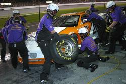 Crown Royal crew work on the car of Danny Lasoski