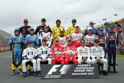 Foto de grupo de pilotos Campeonato de Fórmula 1 de 2005