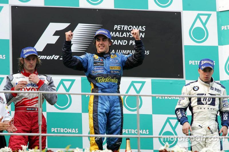 2005 : 1. Fernando Alonso, 2. Jarno Trulli, 3. Nick Heidfeld
