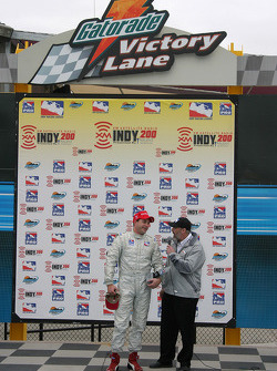 Victory lane: race winner Jon Herb