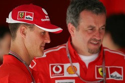 Michael Schumacher and Nigel Stepney