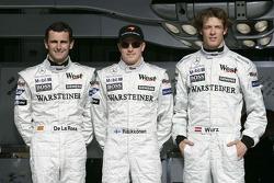 Pedro de la Rosa, Kimi Raikkonen and Alexander Wurz