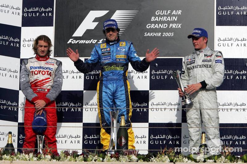 2005: Fernando Alonso, Jarno Trulli, Kimi Räikkönen