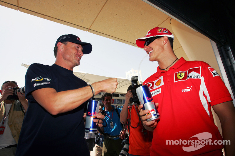 David Coulthard y Michael Schumacher