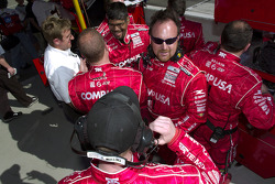 CompUSA Chip Ganassi crew members celebrate victory