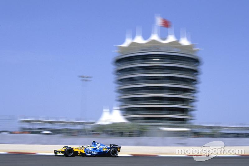 41.9 °C fue la temperatura en el gran premio de Bahrein en el año 2005, siendo la carrera más caliente en la historia de la F1.