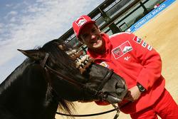 Carlos Checa visits a ranch