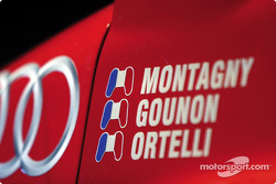 Detail of the Audi R8 of the Audi PlayStation Team ORECA