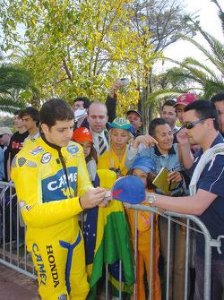 Alex Barros signs autographs