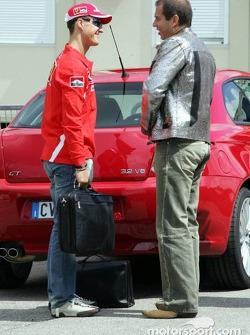 Michael Schumacher with Kai Ebel