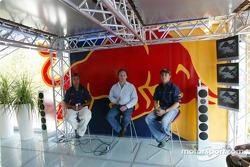 Vitantonio Liuzzi, Christian Horner and Christian Klien