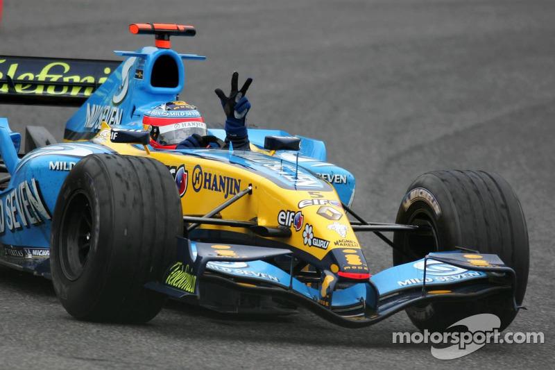 Course mémorable que le GP de St-Marin 2005, remporté devant Michael Schumacher