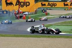 Kimi Raikkonen leads the pack
