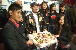 Max Biaggi celebrates 200 Grands Prix