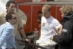 Nico Rosberg and Alex Premat