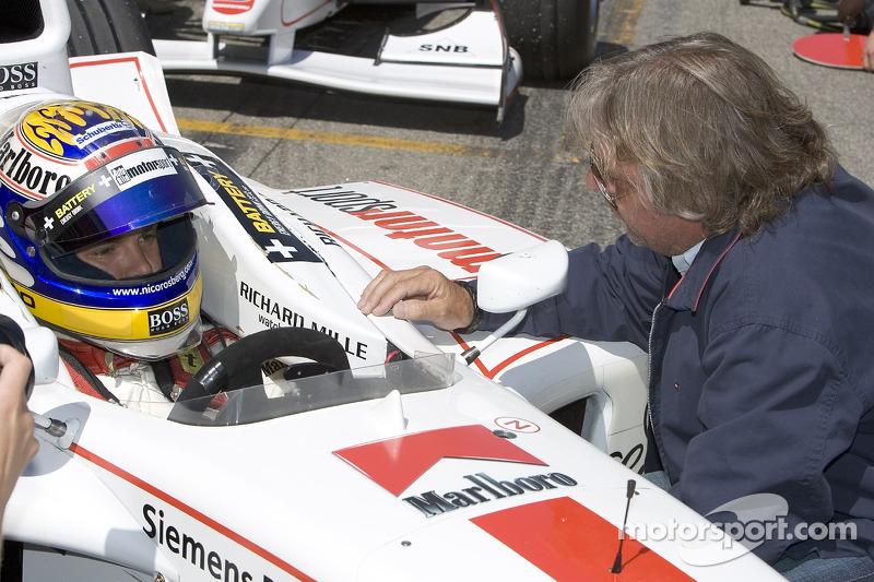Nico Rosberg y Keke Rosberg en Barcelona 2005 en la GP2