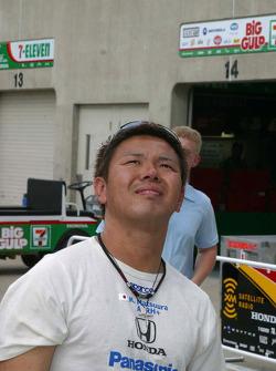 Kosuke Matsuura checks out the skies for rain