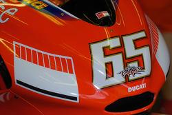 Detail of the Ducati of Loris Capirossi