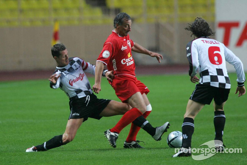 Charity Soccer at the Stade Louis 2, with Prince Albert II of Monaco: Michael Schumacher and Jarno T