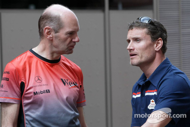 Adrian Newey y David Coulthard