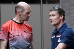 Adrian Newey and David Coulthard