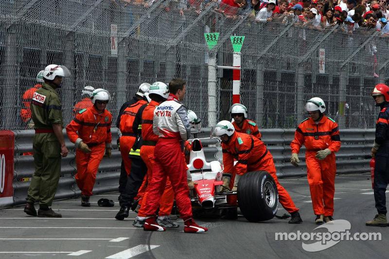 Ralf Schumacher after his crash