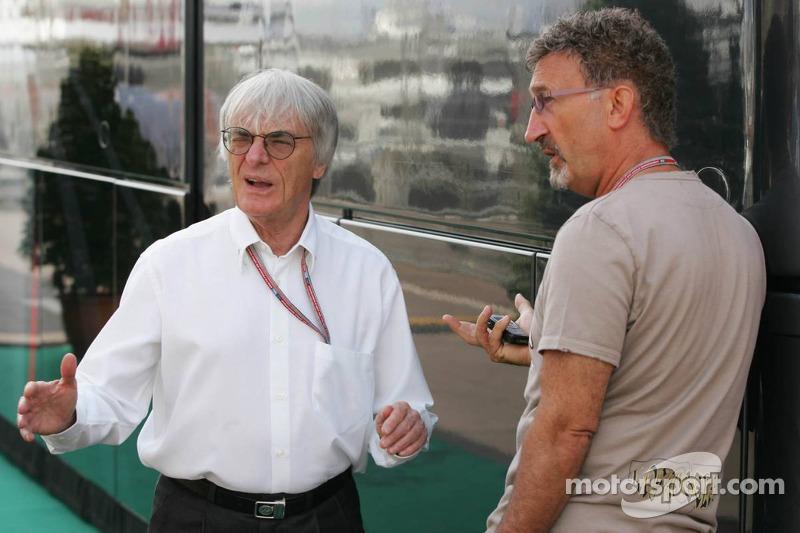 Bernie Ecclestone y Eddie Jordan