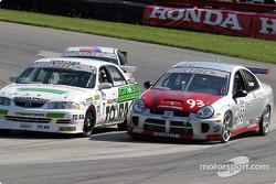 Rick Snyder (#93 Dodge SRT-4) and Mark German (#7 Mazda 626)