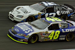 Jimmie Johnson and Ryan Newman