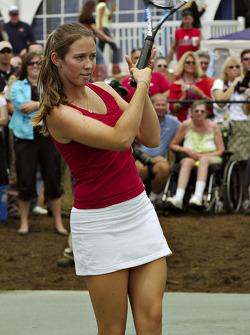 Tennis exhibition match