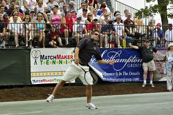 Tennis exhibition match: Boston Reid
