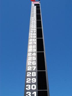The scoring pylon
