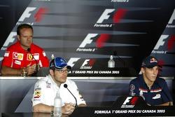 Thursday FIA press conference: Rubens Barrichello, Jacques Villeneuve and Christian Klien