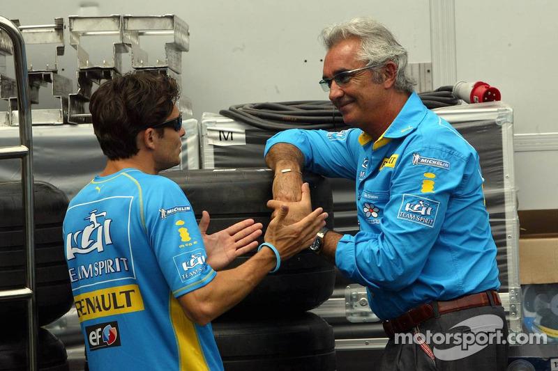 Giancarlo Fisichella y Flavio Briatore