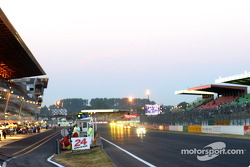 Early morning on the Le Mans pit lane