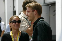 Sébastien Bourdais with his girlfriend