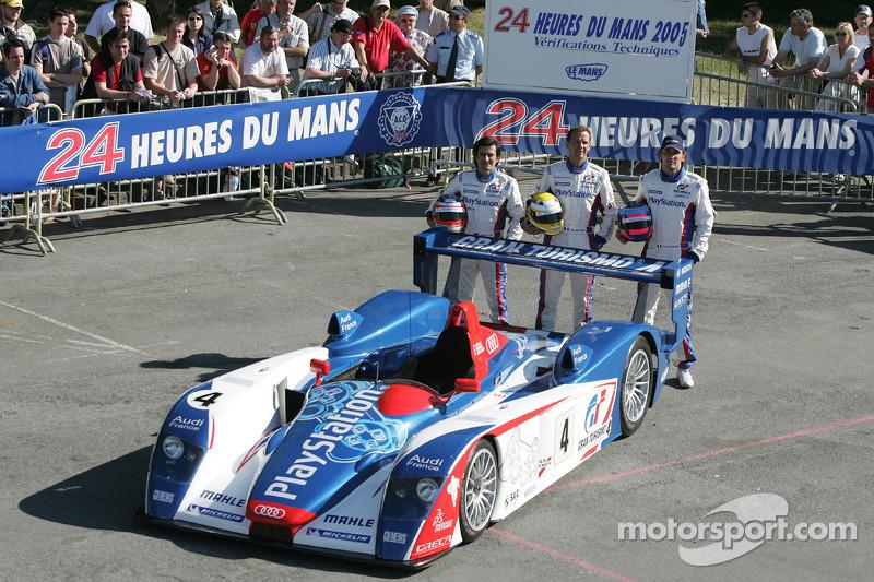 #4 Audi Playstation Team Oreca Audi R8: Franck Montagny, Jean-Marc Gounon, Stéphane Ortelli