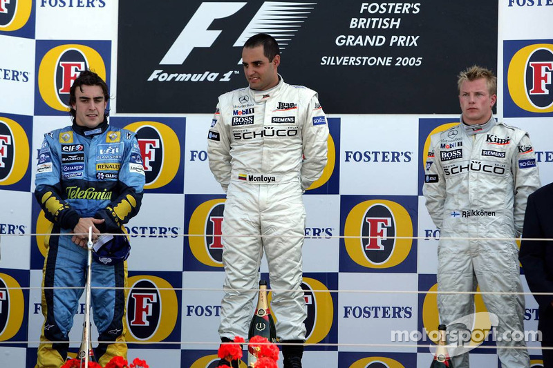 2005: 1. Juan Pablo Montoya, 2. Fernando Alonso, 3. Kimi Räikkönen